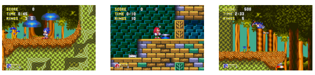 Example of Sonic stages used in Retro Contest